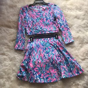 Lilly Pulitzer two piece crop top set